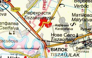 5. ábra. Tiszakeresztúr és környéke