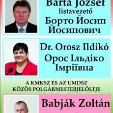 A KMKSZ UMP jelöltjei a Kárpátaljai Megyei Tanácsba