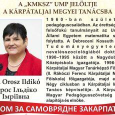 Választás 2015 – Dr. Orosz Ildikó